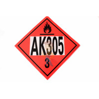 Знак опасности АК 315/3 - Знак Аварийная карточка
