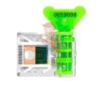 """Антимагнитная пломба """"Ф-1 АМ Комфорт"""" - Антимагнитная номерная пломба АМ-ТФ (DUAL), зеленый"""