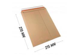 Курьер-пакет 215x270 мм из бурого картона 400 г/м2