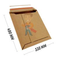 Курьер-пакет В4 250х353 мм из бурого картона 400 гр./м2 - Курьер-пакет А3 330х490 мм из микрогофрокартона 450 гр./м2