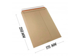 Курьер-пакет S5 175х250 мм из бурого картона 400 г/м2