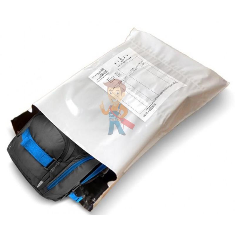 Курьерский пакет 240*320+40 мм, без логотипа с карманом - фото 1