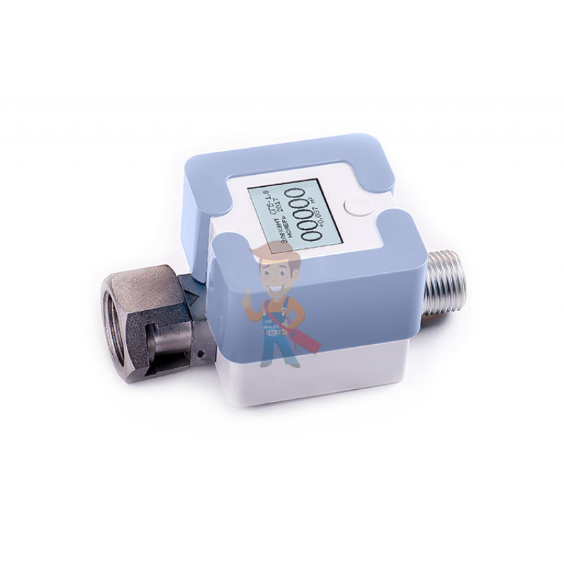 Счетчик газа Элехант СГБ-1,8, светло-голубой