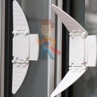 Блокиратор дверей гибкий малый, Lubby, арт.13573 - Блокиратор-бабочка для раздвижных окон и шкафов-купе, 2 шт.