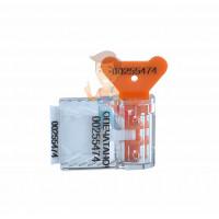 Антимагнитная пломба - Пломба пластиковая номерная Старт, оранжевый