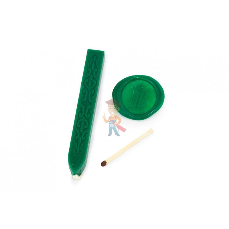 Сургуч с фитилем, зеленый