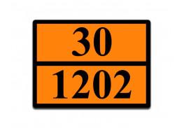 Знаки опасности жд - Знак ООН 30/1202