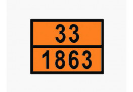 Знаки опасности жд - Знак ООН 33/1863