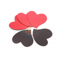 Магнитная ручка Forceberg черная - Магниты-сердечки, Forceberg, комплект из 20 шт