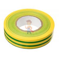 Изолента ПВХ Морозостойкая высшего класса, рулон 25 мм х 33 м - ПВХ изолента универсальная, желто-зеленая, 19 мм x 20 м