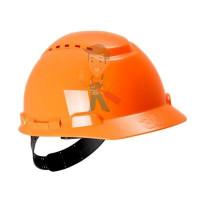 Каска защитная с вентиляцией, стандартное оголовье, белая - Каска защитная с вентиляцией, стандартное оголовье, оранжевая
