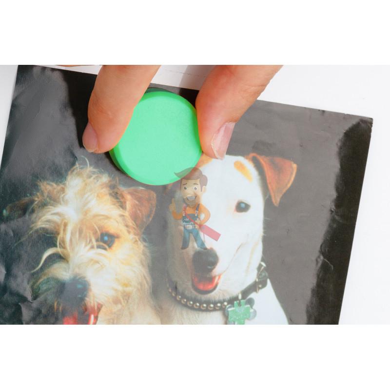 Магнит для магнитной доски Forceberg 30 мм, зеленый, 10шт. - фото 2