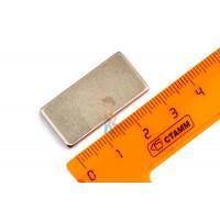 Магнитное крепление с отверстием А25 - Неодимовый магнит прямоугольник 30х15х2 мм, N33