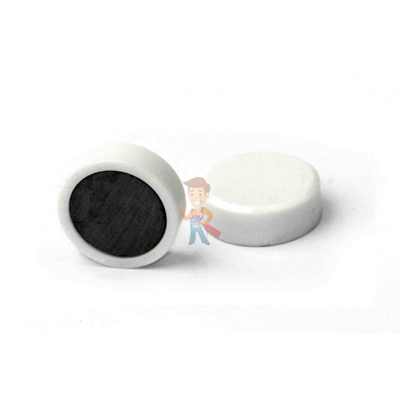 Магнит для магнитной доски FORCEBERG 20 мм, белый, 10шт. - фото 1