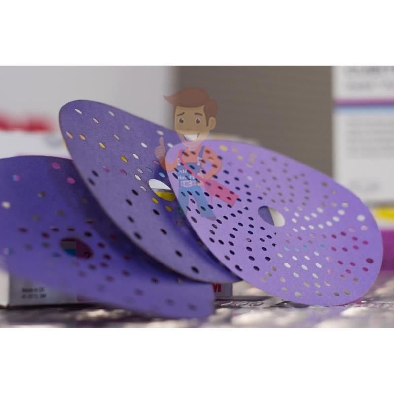 Круг абразивный c мультипылеотводом Purple+, 220+, Cubitron Hookit 737U, 150 мм - фото 4