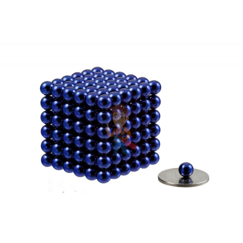 Forceberg Cube - куб из магнитных шариков 6 мм, синий, 216 элементов - фото 1