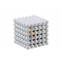 Forceberg Cube - куб из магнитных шариков 5 мм, жемчужный, 216 элементов - Forceberg Cube - куб из магнитных шариков 6 мм, белый, 216 элементов