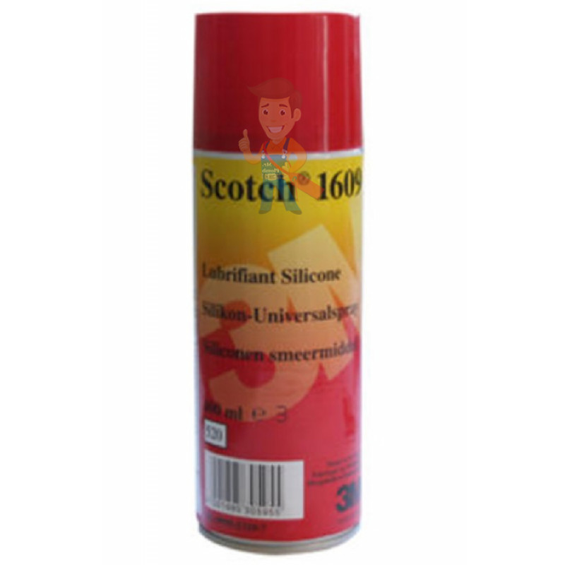 Аэрозоль силиконовый Scotch ® 1609, прозрачный, 400 мл