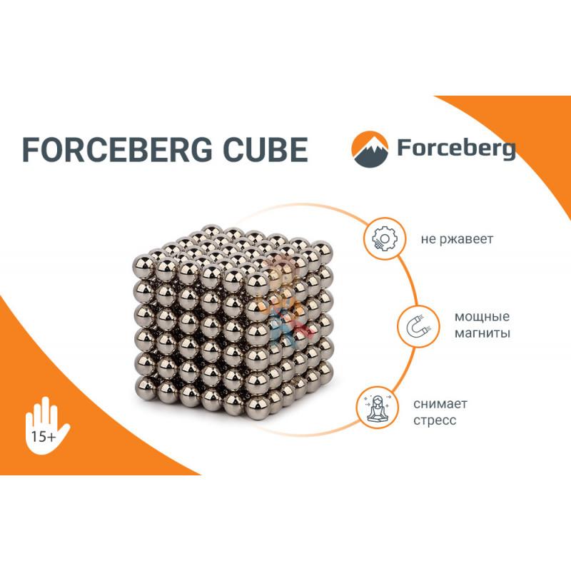 Forceberg Cube - куб из магнитных шариков и кубиков 5 мм, цветной/стальной, 512 элементов - фото 7
