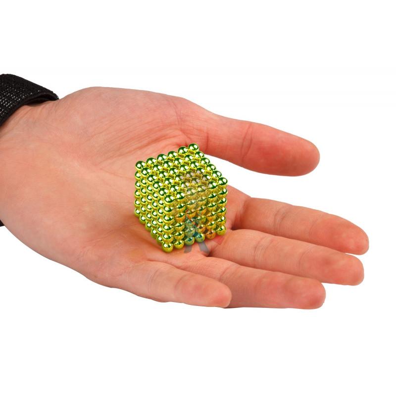 Forceberg Cube - куб из магнитных шариков 5 мм, оливковый, 216 элементов - фото 2