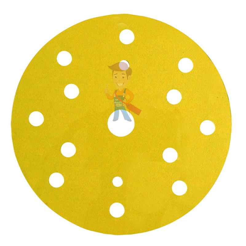 Круг Aбразивный, золотой, 15 отверстий, Р500, 150 мм,3M™ Hookit™ 255P+, 10 шт/уп - фото 1