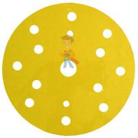 Круг зачистной 786C Cubitron™ II Roloc™, 50 мм, 36+, 3 шт./уп. - Круг Абразивный, золотой, 15 отверстий, Р220, 150 мм,3M™ Hookit™ 255P+, 10 шт/уп