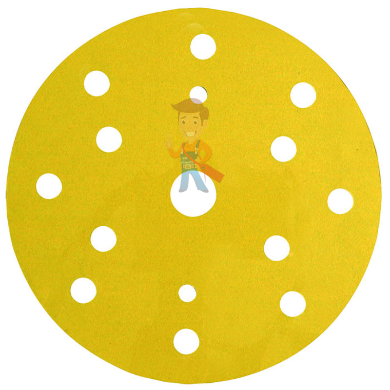 Круг Абразивный, золотой, 15 отверстий, Р220, 150 мм,3M™ Hookit™ 255P+, 10 шт/уп