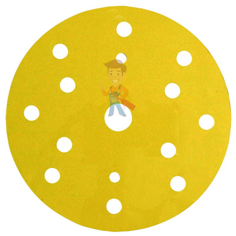 Круг Абразивный, золотой, 15 отверстий, Р180, 150 мм,3M™ Hookit™ 255P+, 10 шт/уп