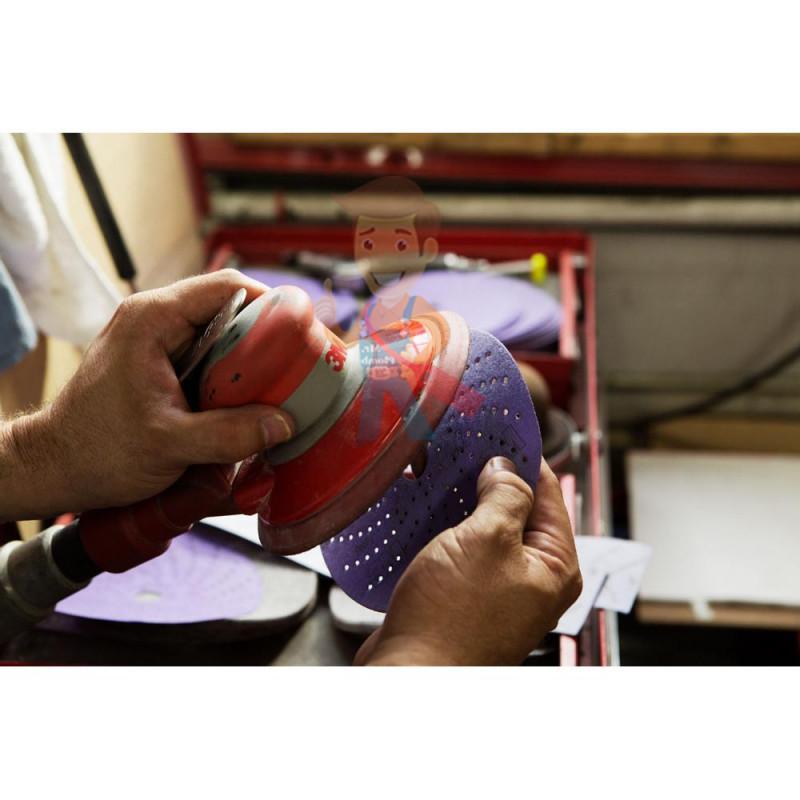Круг абразивный c мультипылеотводом Purple+, 120+, Cubitron Hookit 737U, 150 мм - фото 5