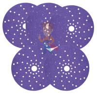 Круг абразивный гибкий Hookit 150 мм, Р2000, на вспененной основе - Круг абразивный c мультипылеотводом Purple+, 180+, Cubitron Hookit 737U, 150 мм