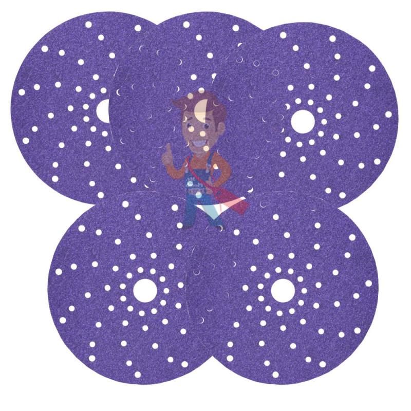 Круг абразивный c мультипылеотводом Purple+, 180+, Cubitron Hookit 737U, 150 мм