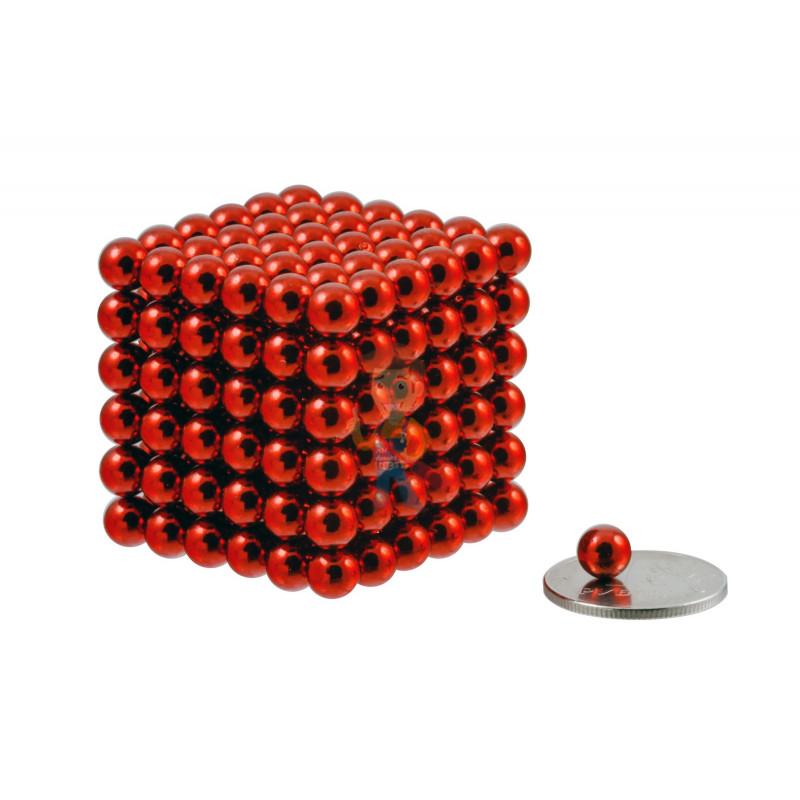 Forceberg Cube - куб из магнитных шариков 6 мм, красный, 216 элементов - фото 1