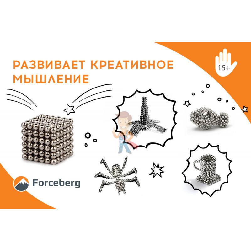 Forceberg Cube - куб из магнитных шариков 6 мм, бирюзовый, 216 элементов - фото 9