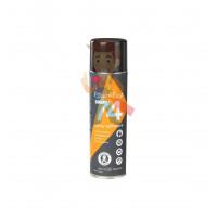 Клей-спрей Hi-Strength 90, эластомерный однокомпонентный, прозрачный, 500 мл - Клей-спрей аэрозольный 3M™ 74 для вспененных материалов, оранжевый, 500 мл