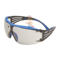 Cалфетки очищающие для ухода за очками в диспенсере, 500 штук в индивидуальных упаковках - Очки открытые защитные с покрытием Scotchgard™ Anti-Fog (K&N),линзы светло-серые, серо-голубые дужки