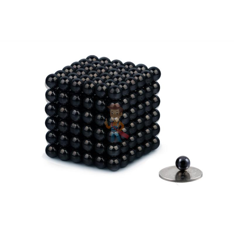 Forceberg Cube - куб из магнитных шариков 7 мм, черный, 216 элементов - фото 1