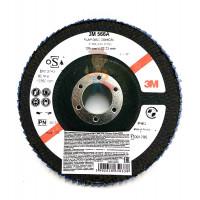 Лист шлифовальный для удаления сильных загрязнений A MED коричневый 158 мм х 224 мм - Круг лепестковый торцевой конический 566A  P40, 125 мм х 22 мм