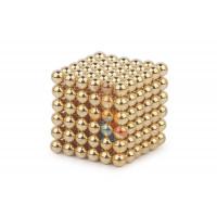 Forceberg Cube - куб из магнитных шариков 5 мм, золотой, 216 элементов - Forceberg Cube - куб из магнитных шариков 5 мм, золотой, 216 элементов