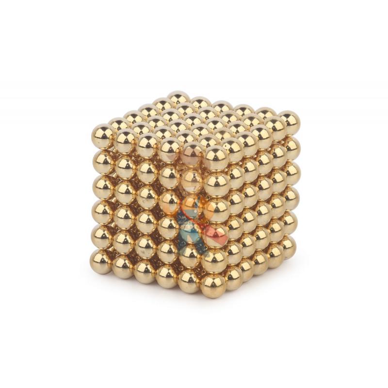 Forceberg Cube - куб из магнитных шариков 5 мм, золотой, 216 элементов