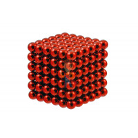 Forceberg Cube - куб из магнитных шариков 5 мм, стальной, 216 элементов - Forceberg Cube - куб из магнитных шариков 6 мм, красный, 216 элементов