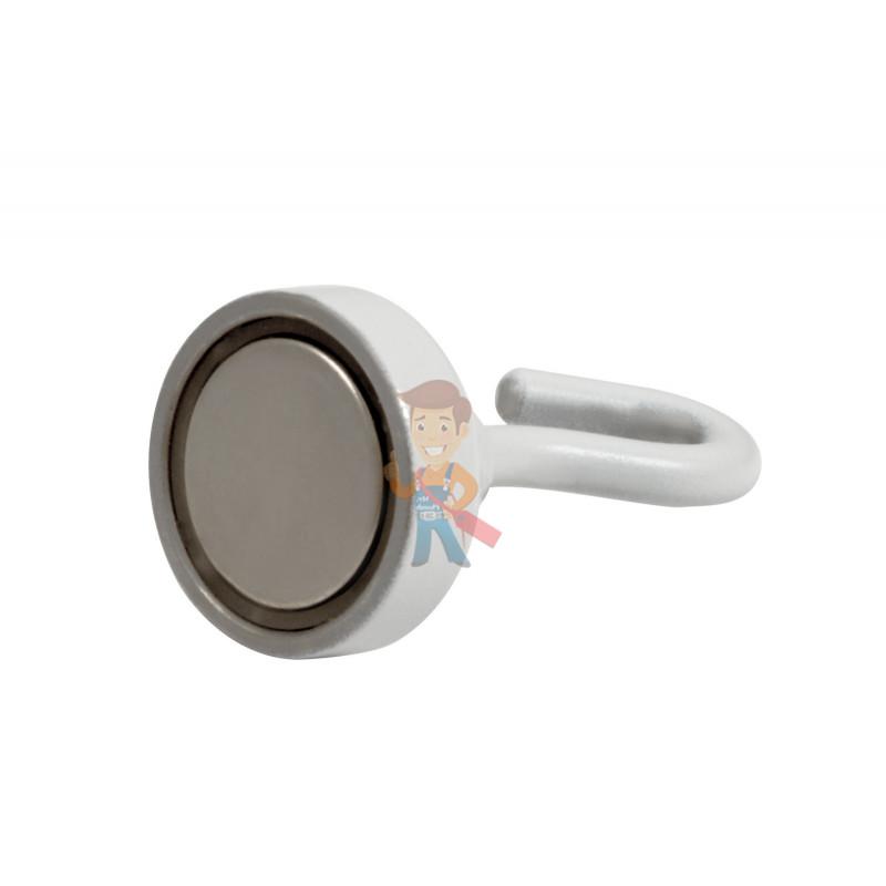 Крючки на неодимовом магните Forceberg Е20 (М4), сила сц. 8 кг, 4 шт., белые - фото 2