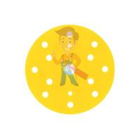 Круг Абразивный, золотой, 15 отверстий, Р280, 150 мм,3M Hookit 255P+ - Круг Абразивный, золотой, 15 отверстий, Р360, 150 мм,3M Hookit 255P+