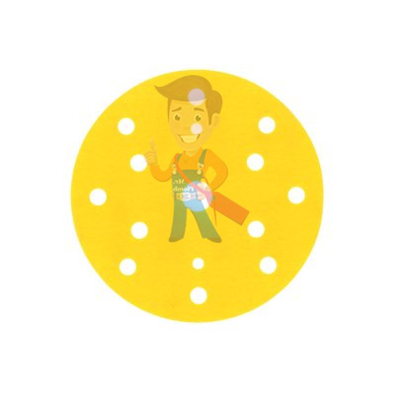 Круг Абразивный, золотой, 15 отверстий, Р360, 150 мм,3M Hookit 255P+