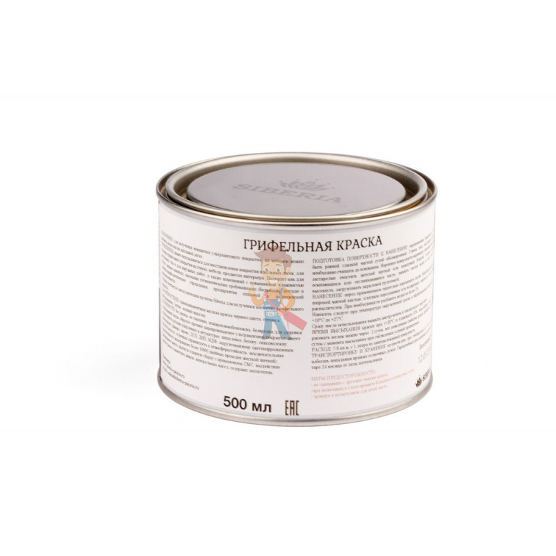 Грифельная краска Siberia 0.5 литра, на 2.5 м² - фото 1