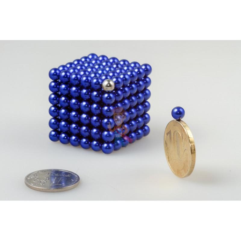 Forceberg Cube - куб из магнитных шариков 5 мм, синий, 216 элементов - фото 1