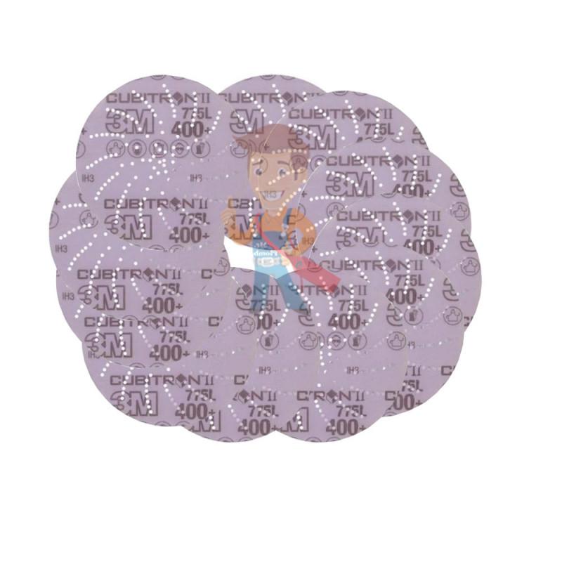 Круг Шлифовальный, 400+, 125мм, Клин Сэндинг, 3M Cubitron II Hookit 775L  10 шт./уп. - фото 2