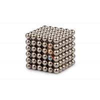 Forceberg Cube - куб из магнитных шариков 5 мм, золотой, 216 элементов - Forceberg Cube - куб из магнитных шариков 6 мм, стальной, 216 элементов