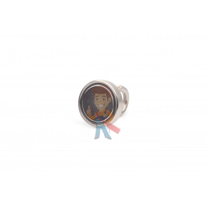 Крючок на неодимовом магните Е25 (М5), сила сц. 15 кг - фото 1