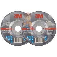 Круг для очистки поверхности CG-DС, S XCS, голубой, 100 мм х 13 мм, 2 шт/уп. - Круг зачистной Silver, T27 125 мм х 7 мм х 22,23 мм