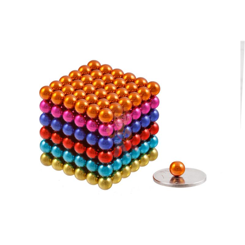 Forceberg Cube - куб из магнитных шариков 6 мм, цветной, 216 элементов - фото 1